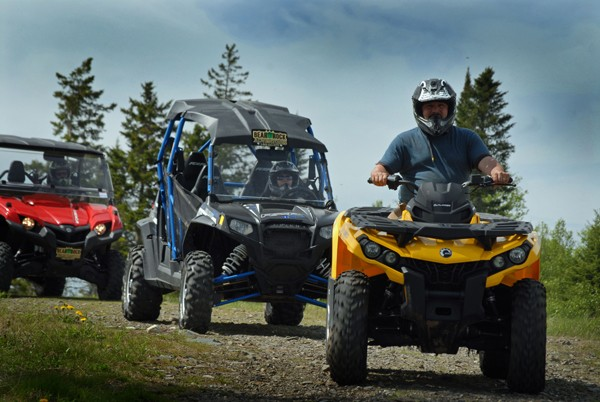 Atv Riding at Quimby's in Vermont