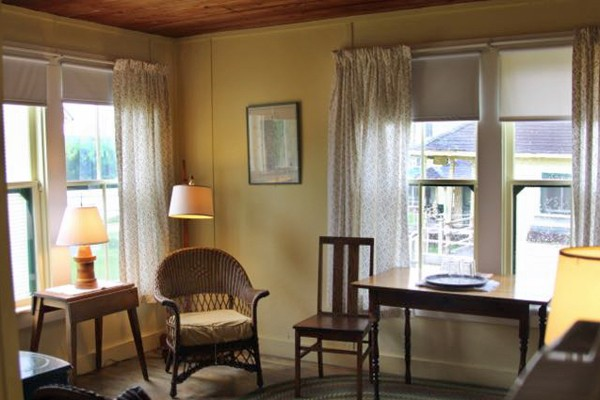 In Wood Cottage at Quimby's