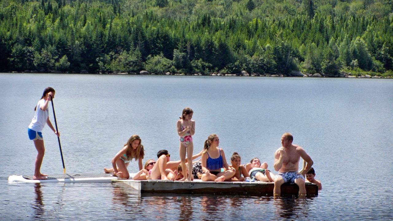 Swim-Raft at Quimby's