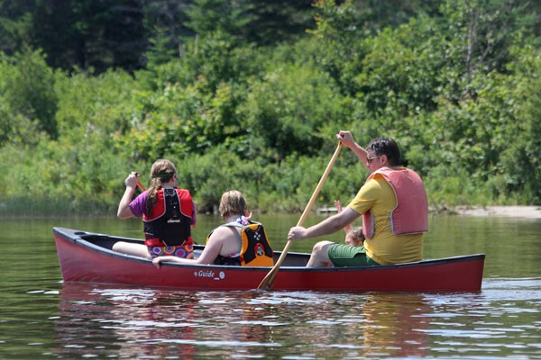 Canoeing at Quimby's in Vermont