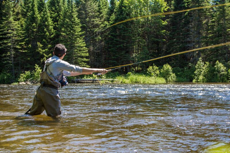 Fishing for trout and salmon in Vermont at Quimby Country