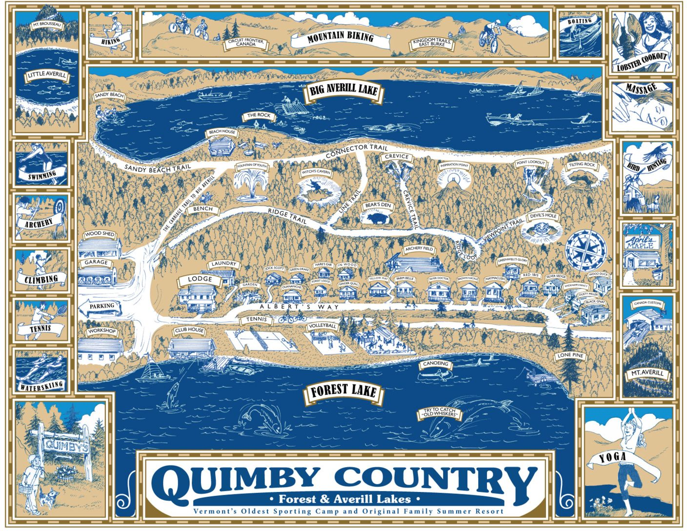 Quimby Country Cottage Map
