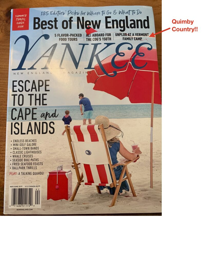 Yankee Magazine 2019 Travel Guide Article – Quimby Country
